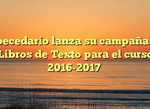 Abecedario lanza su campaña de Libros de Texto para el curso 2016-2017