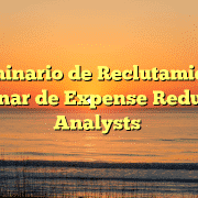 Seminario de Reclutamiento Webinar de Expense Reduction Analysts