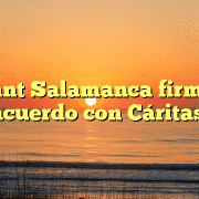 Adlant Salamanca firma un acuerdo con Cáritas