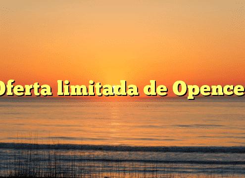 Oferta limitada de Opencel
